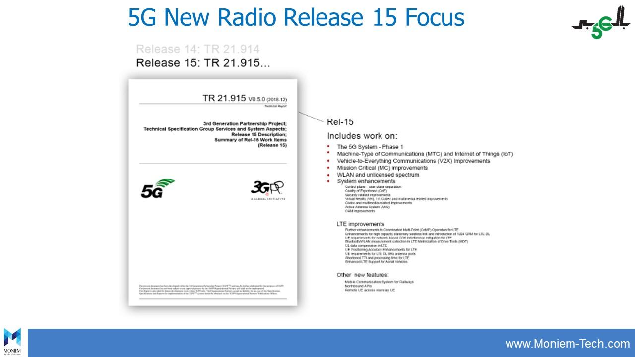 5G New Radio Release 15 Focus